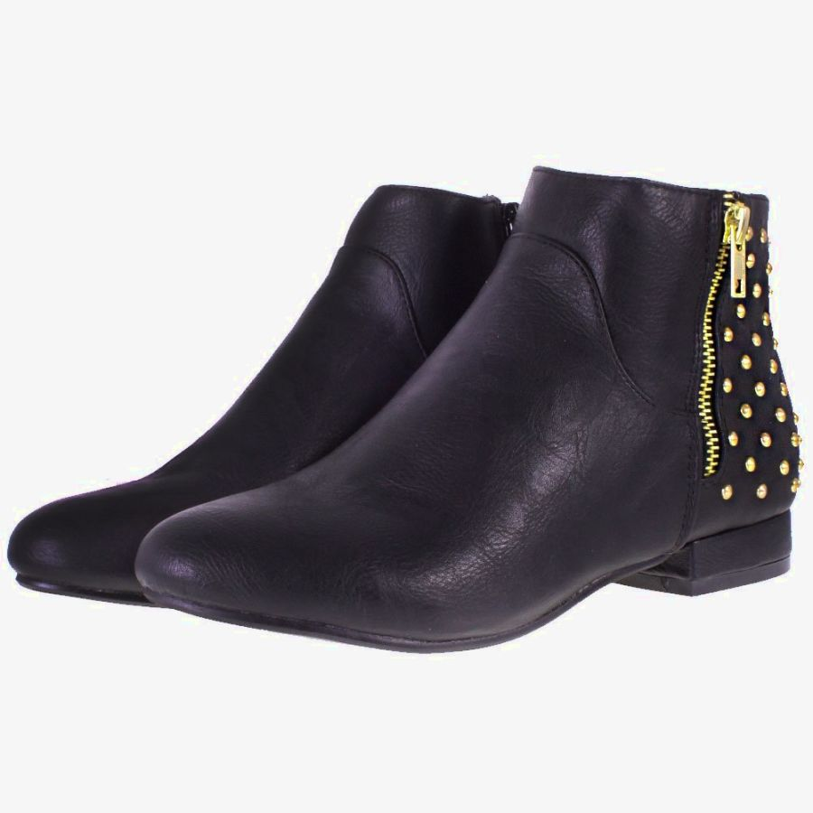 Black Ankle Boots Low Heel X3qj2jRF
