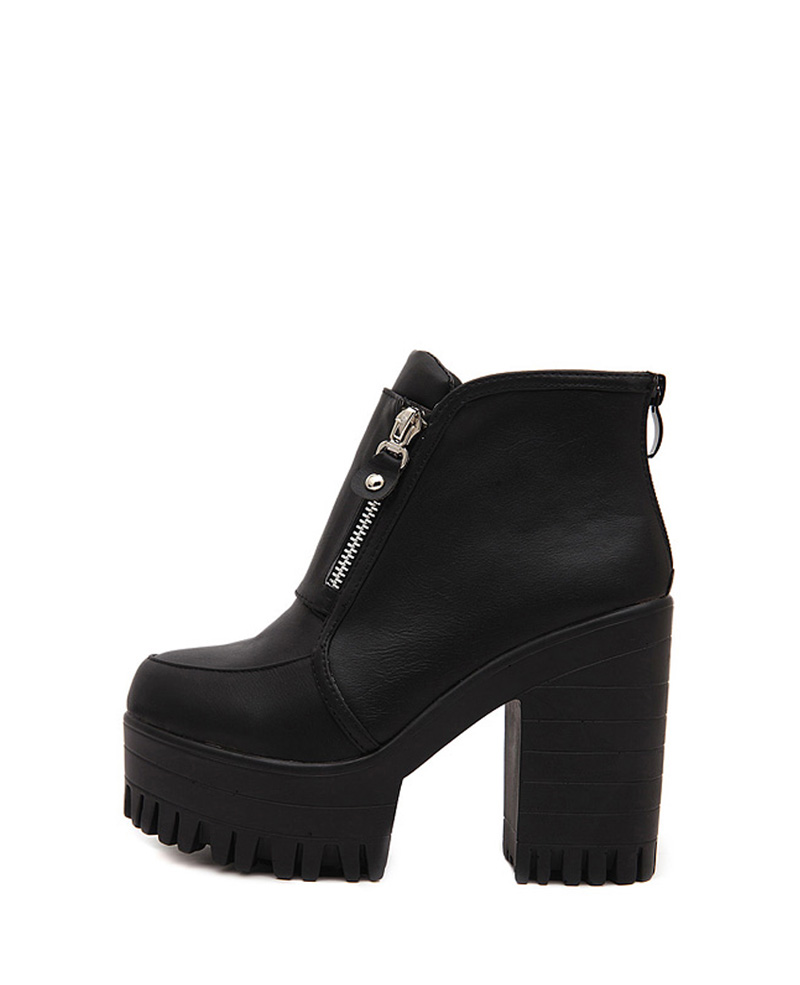 Black Ankle Boots With Heel UGxKR2KO