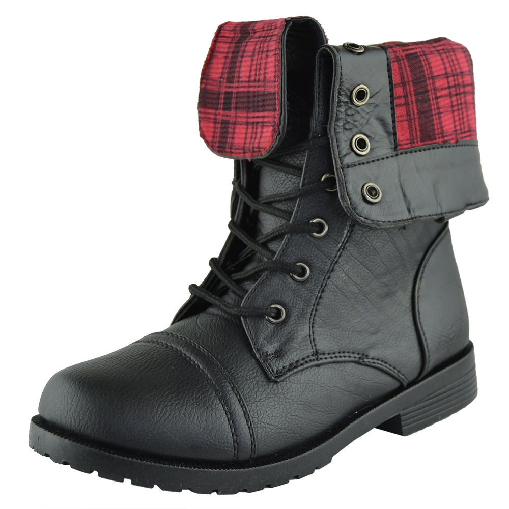 Black Combat Boots For Girls XlGXANkX