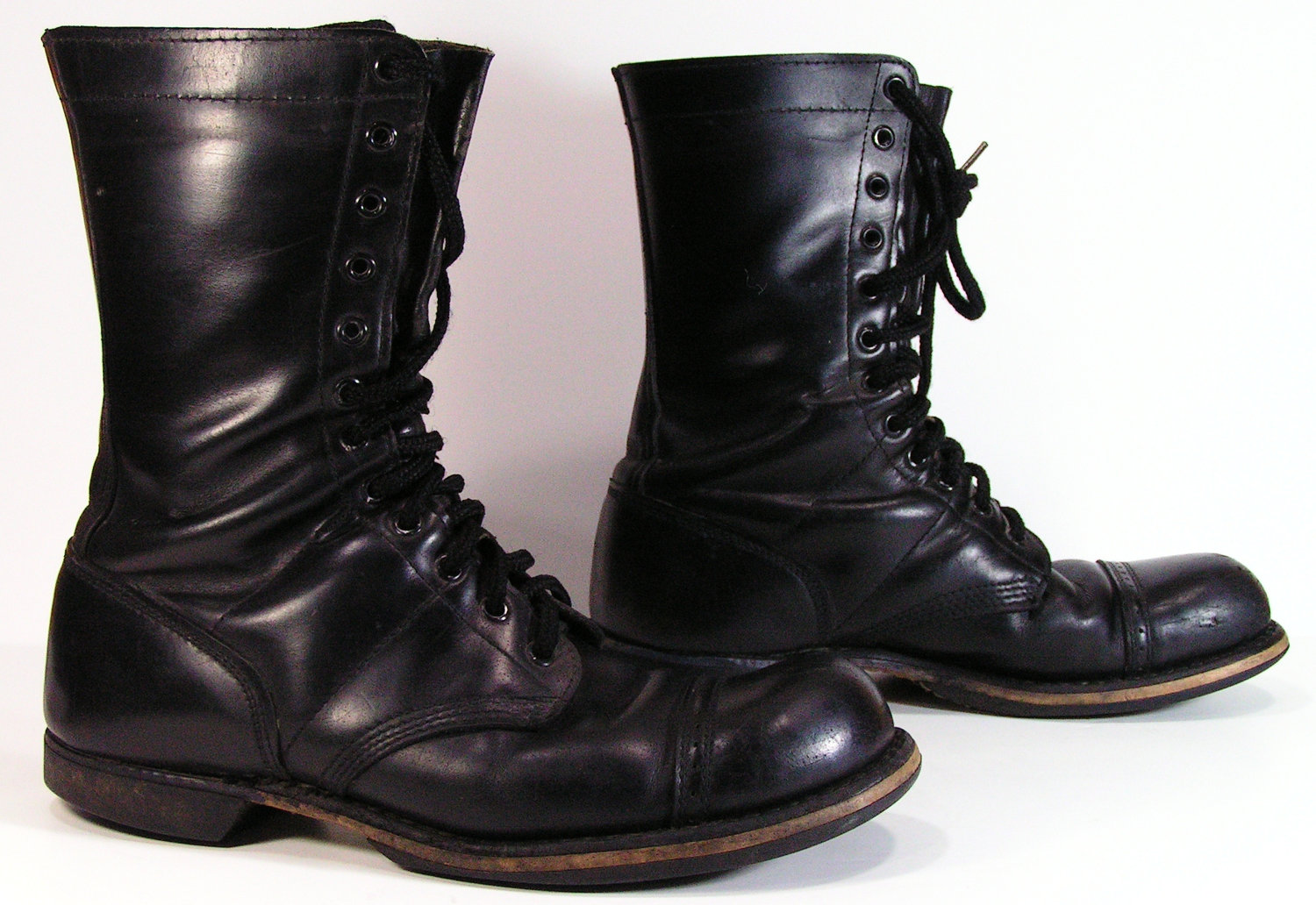 Black Combat Boots For Men OGDUW31K
