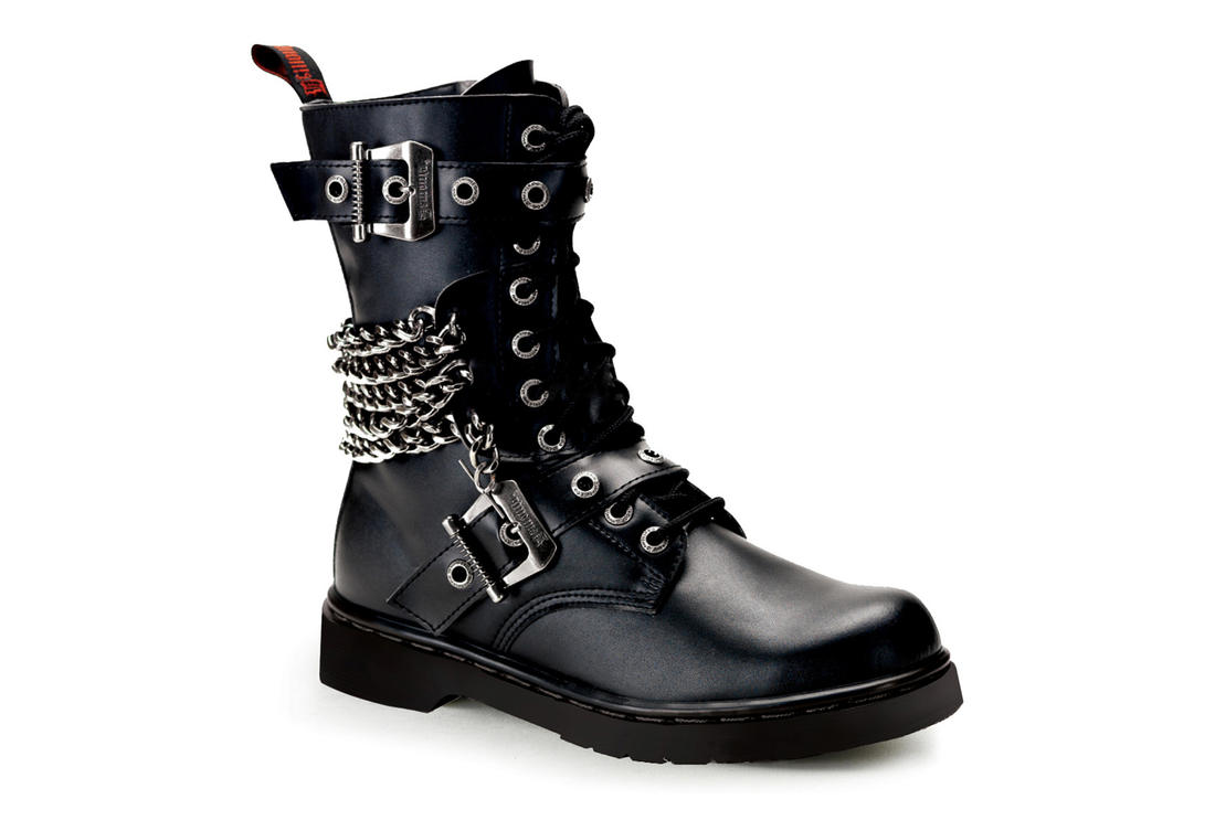 Black Combat Boots For Men aPvDrxgQ