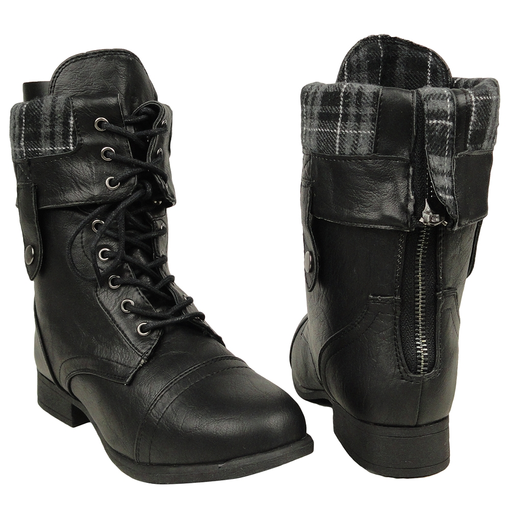 Black Combat Boots Womens Re8vmghb