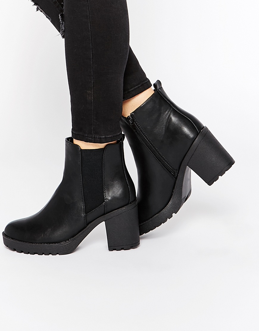 Black Heeled Ankle Boots fMGWQfPr