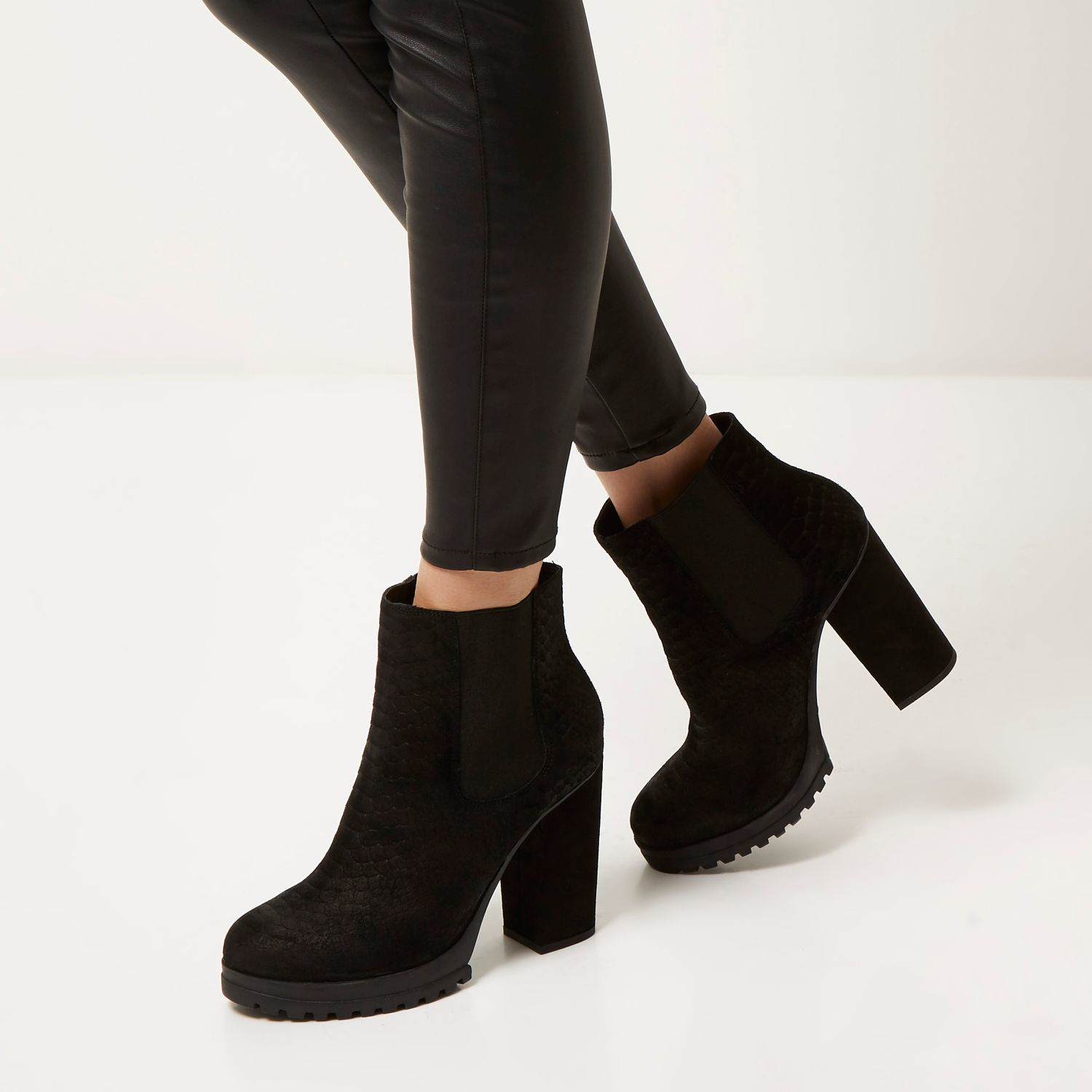 Black Heeled Ankle Boots woiFGlj4