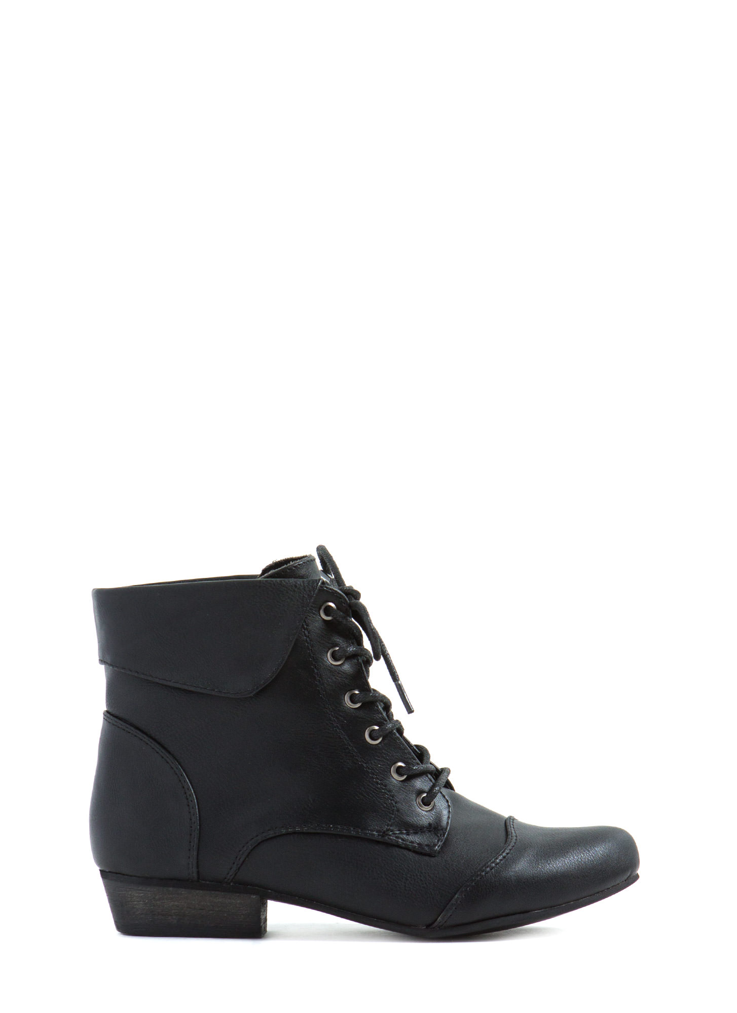 Black Lace Up Ankle Boots llbDC2LR