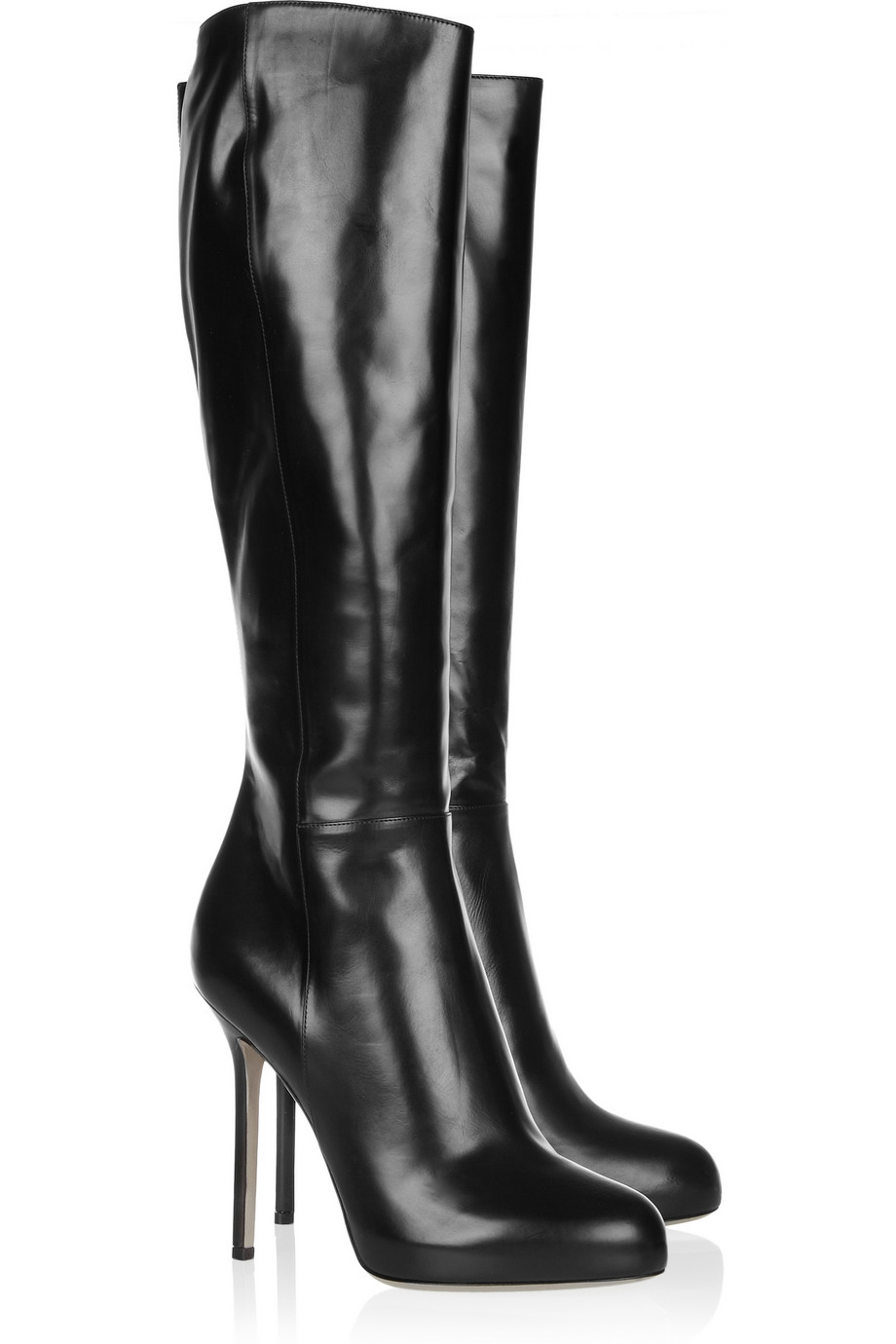 Black Leather Boots For Women 4A1WTLre