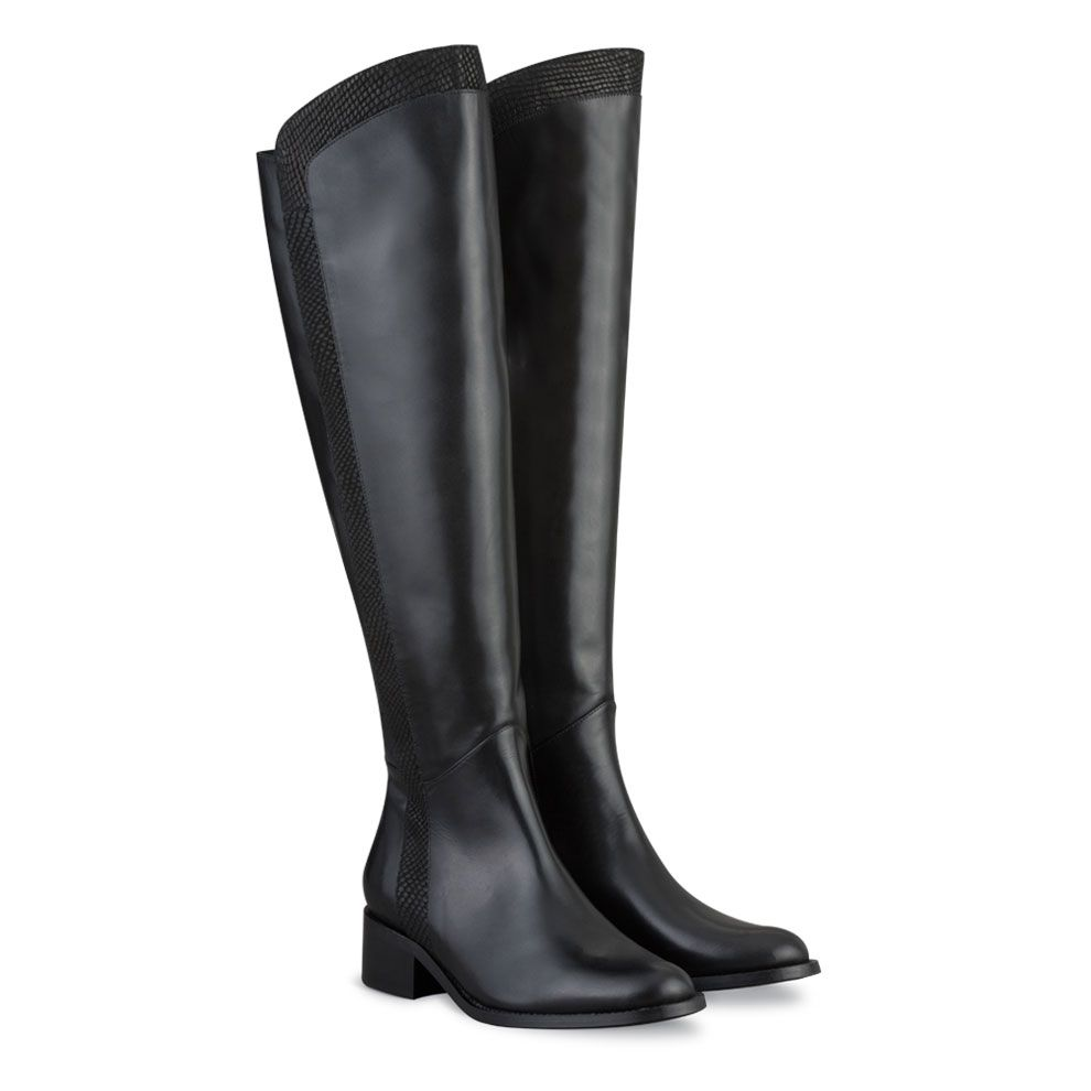 Black Leather Boots For Women M2GgTOio