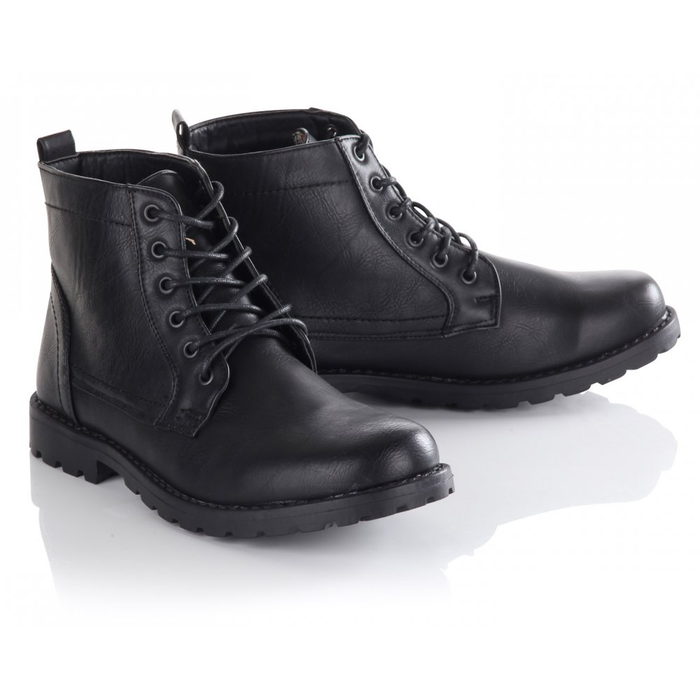Black Leather Boots Mens vcXfnwWv