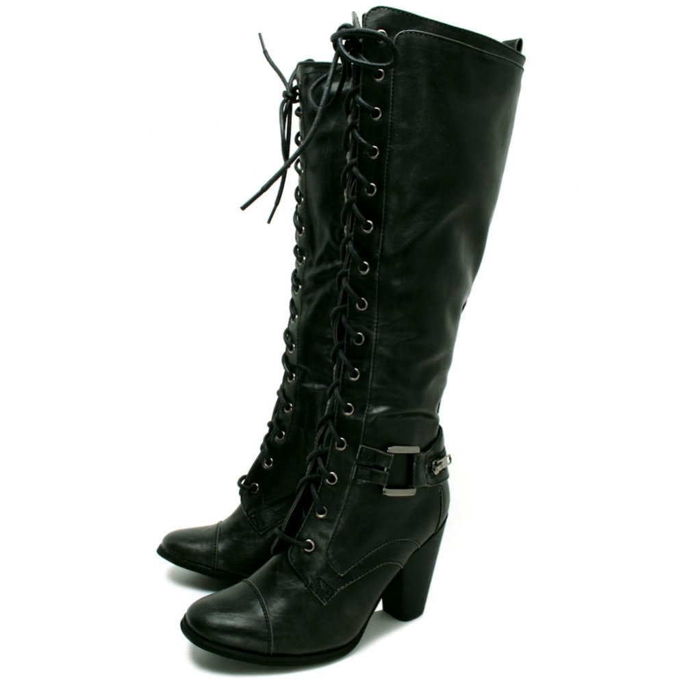 Black Leather Boots Womens W5ddSK6Y