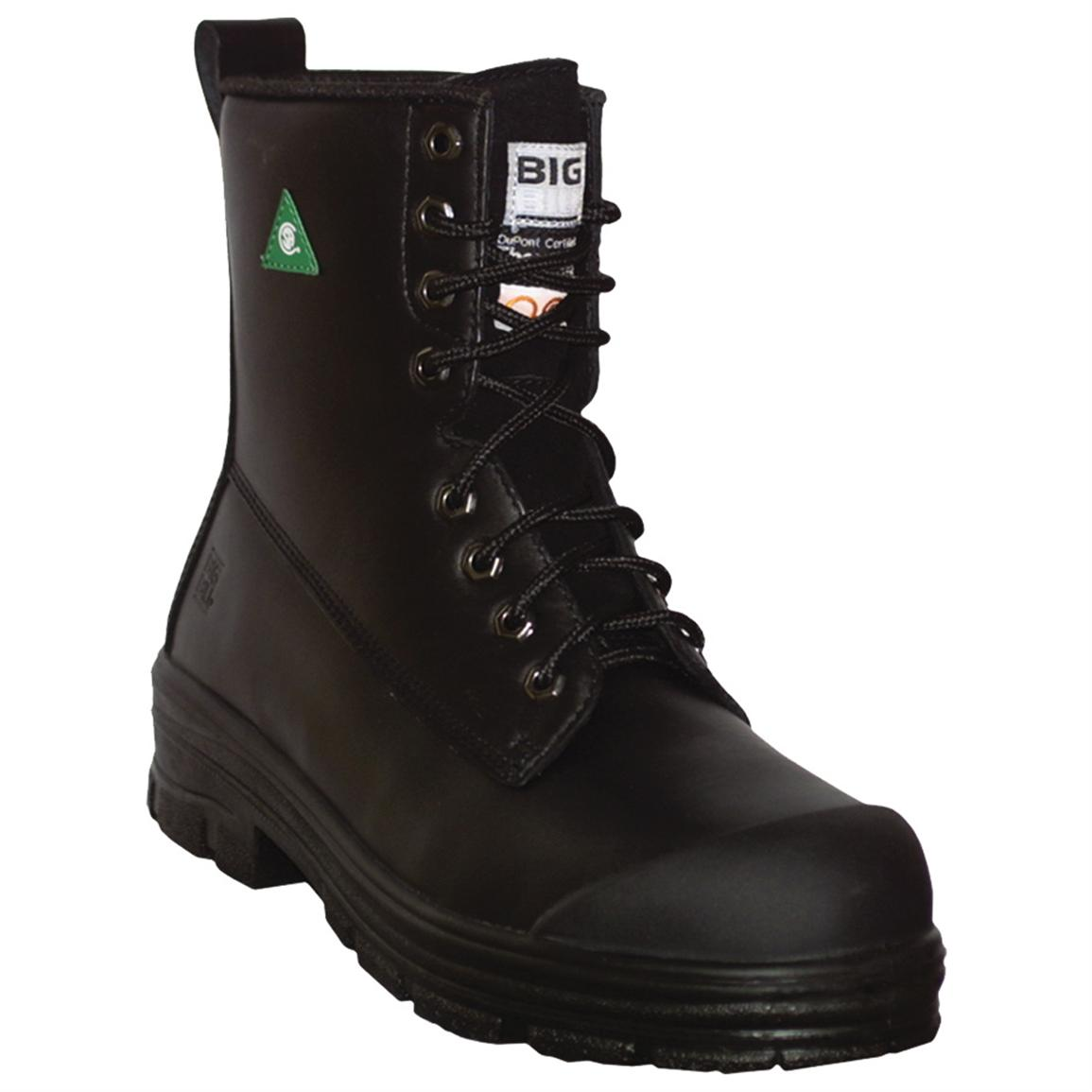 Black Leather Work Boots 6snz6ANd
