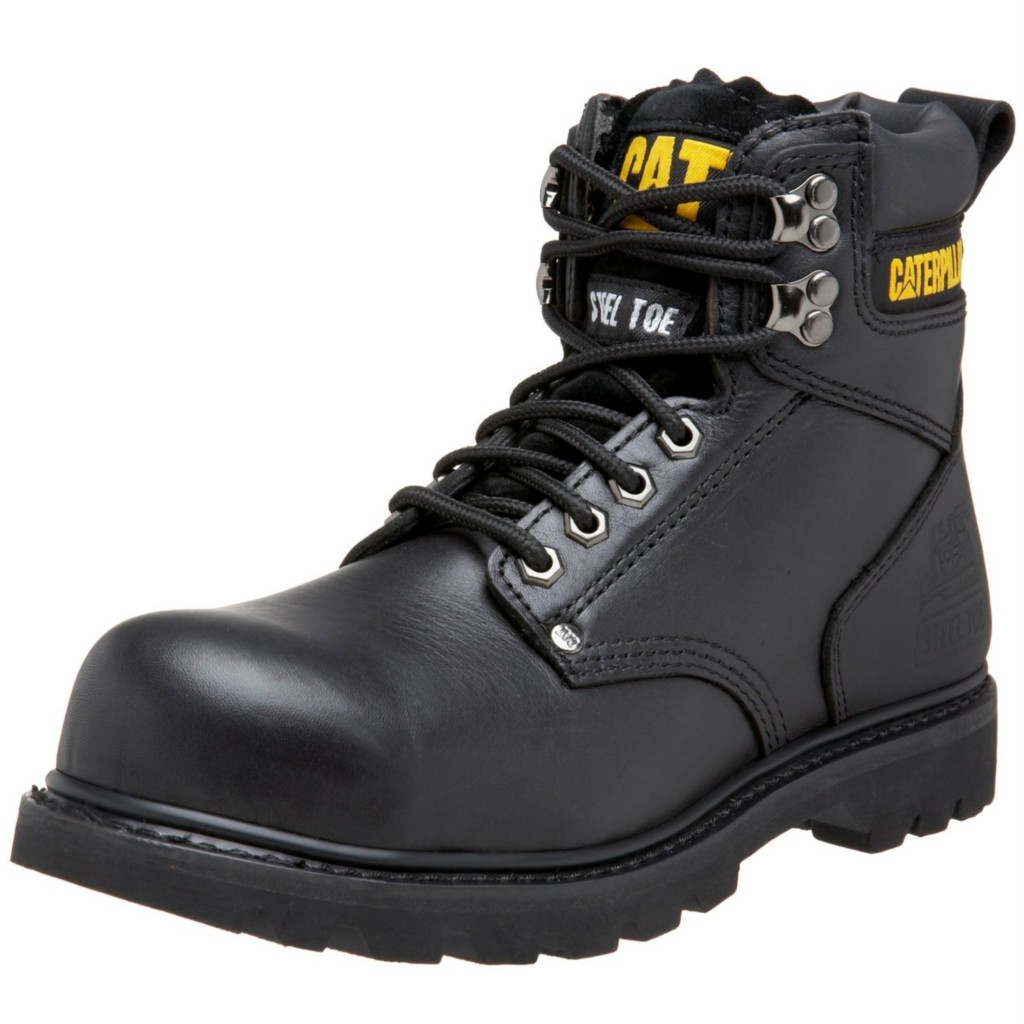 Black Steel Toe Work Boots a11EUPz5