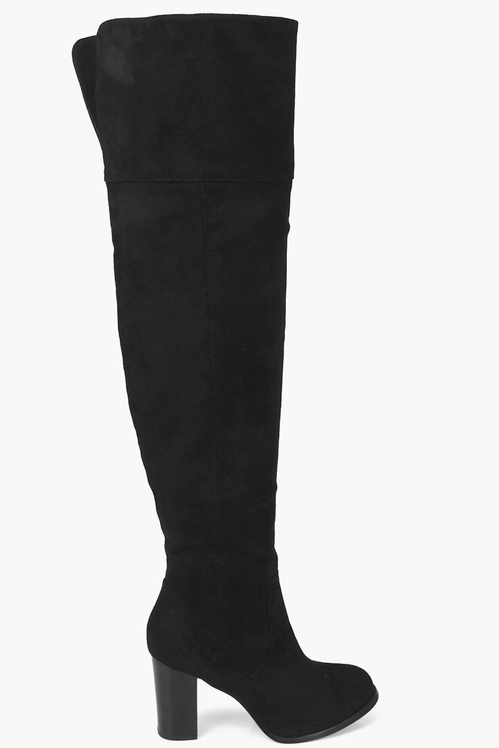 Black Thigh High Flat Boots yI7plgvR