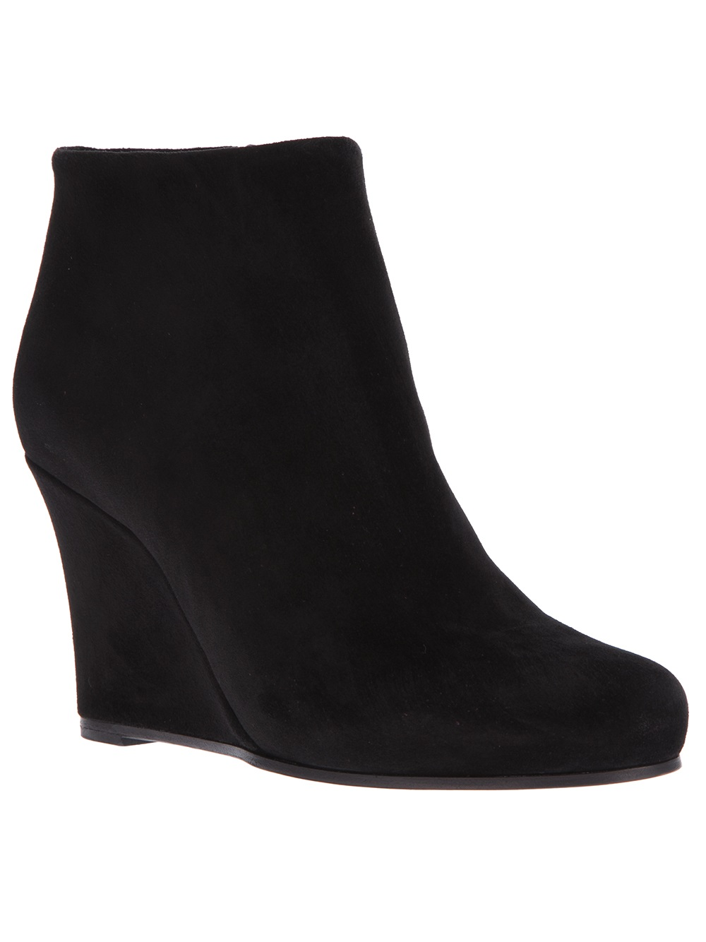 Black Wedge Ankle Boots mOOLUJdO