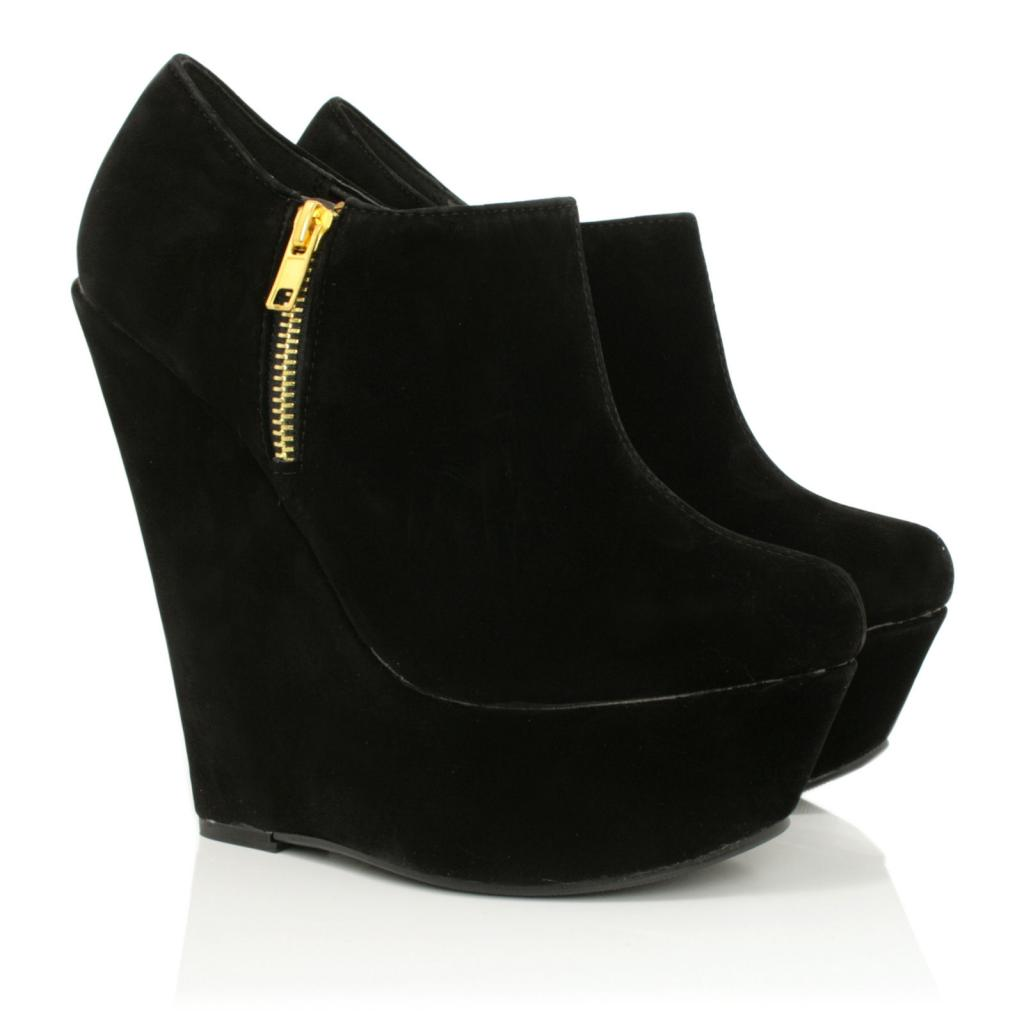 Black Wedge Ankle Boots sG7x0Szr