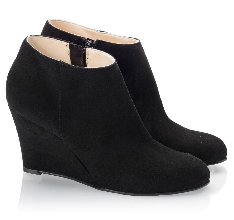 Black Wedge Ankle Boots LG2dgDqB