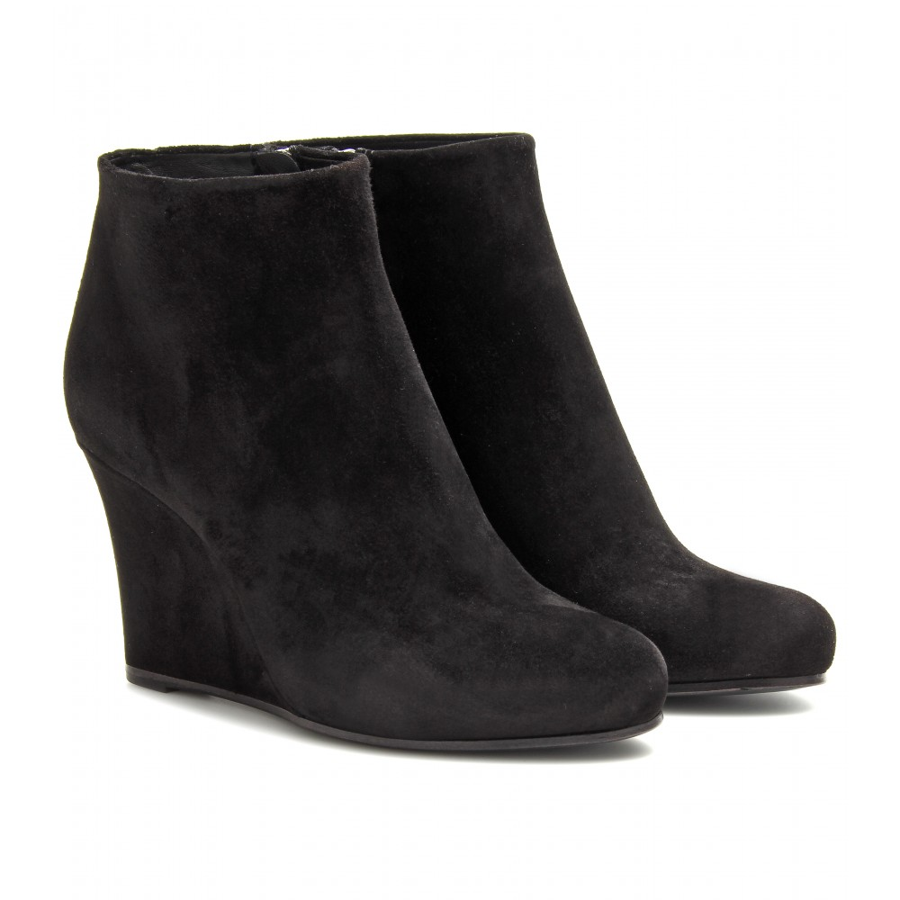 Black Wedge Ankle Boots wlwkRyTb