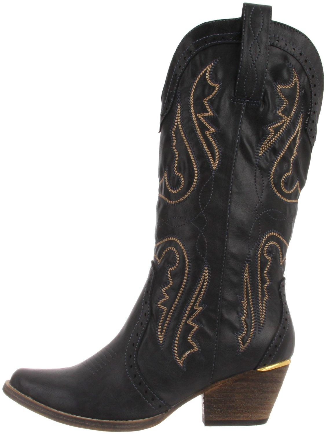 Cheap Black Womens Cowboy Boots