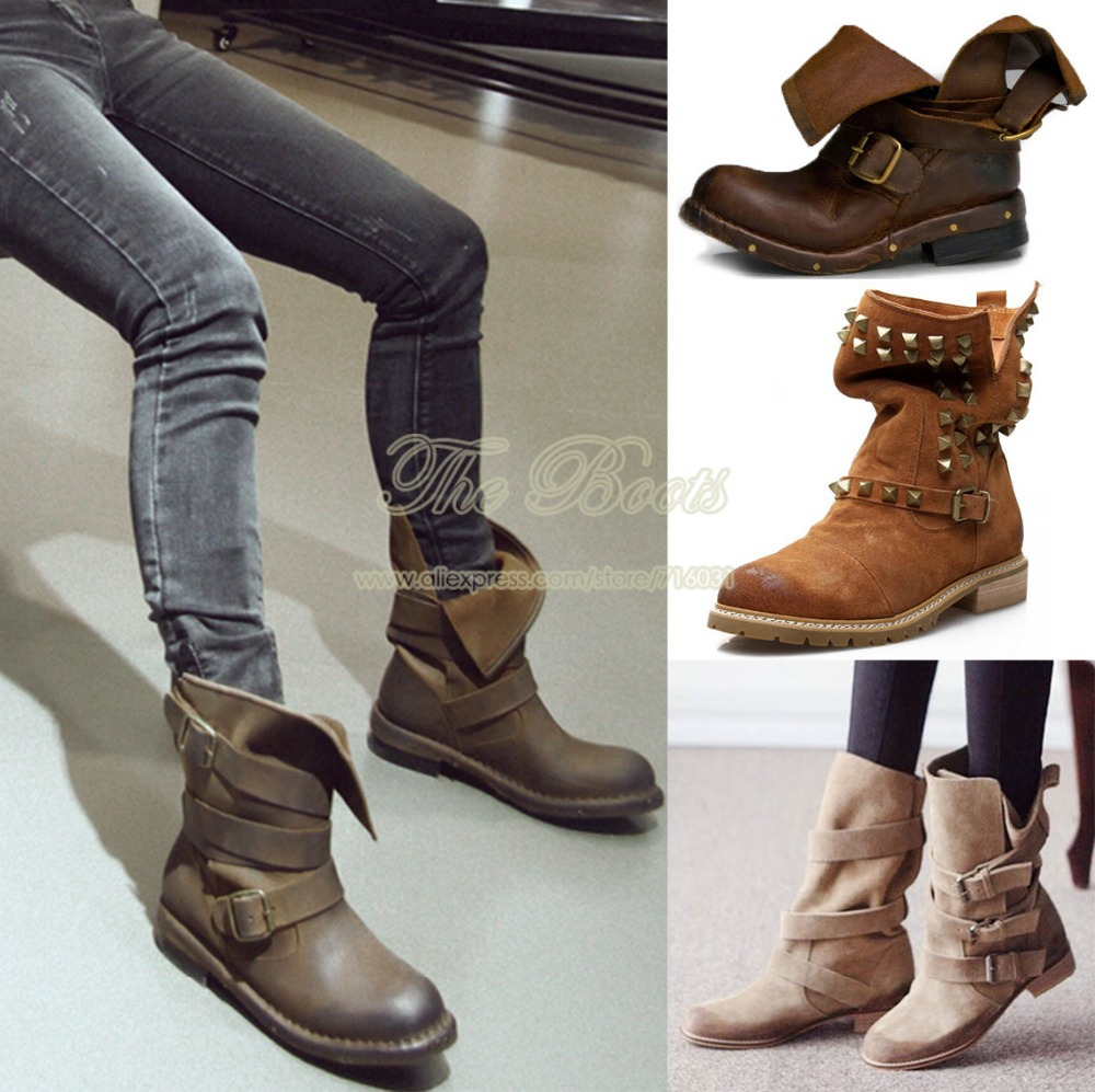 Brown Combat Boots For Women ST2ewrHW