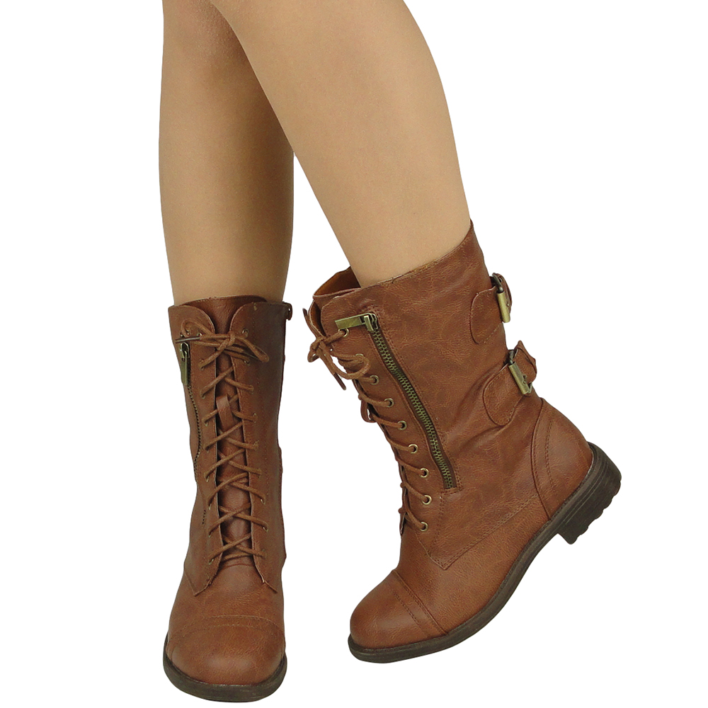 Brown Combat Boots For Women SfzyxLDW