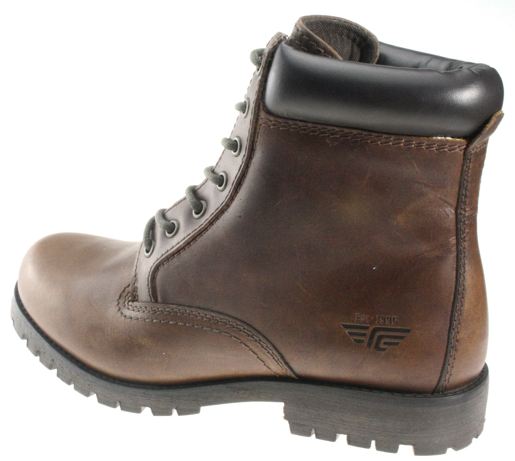 Brown Lace Up Ankle Boots J0p6oozE