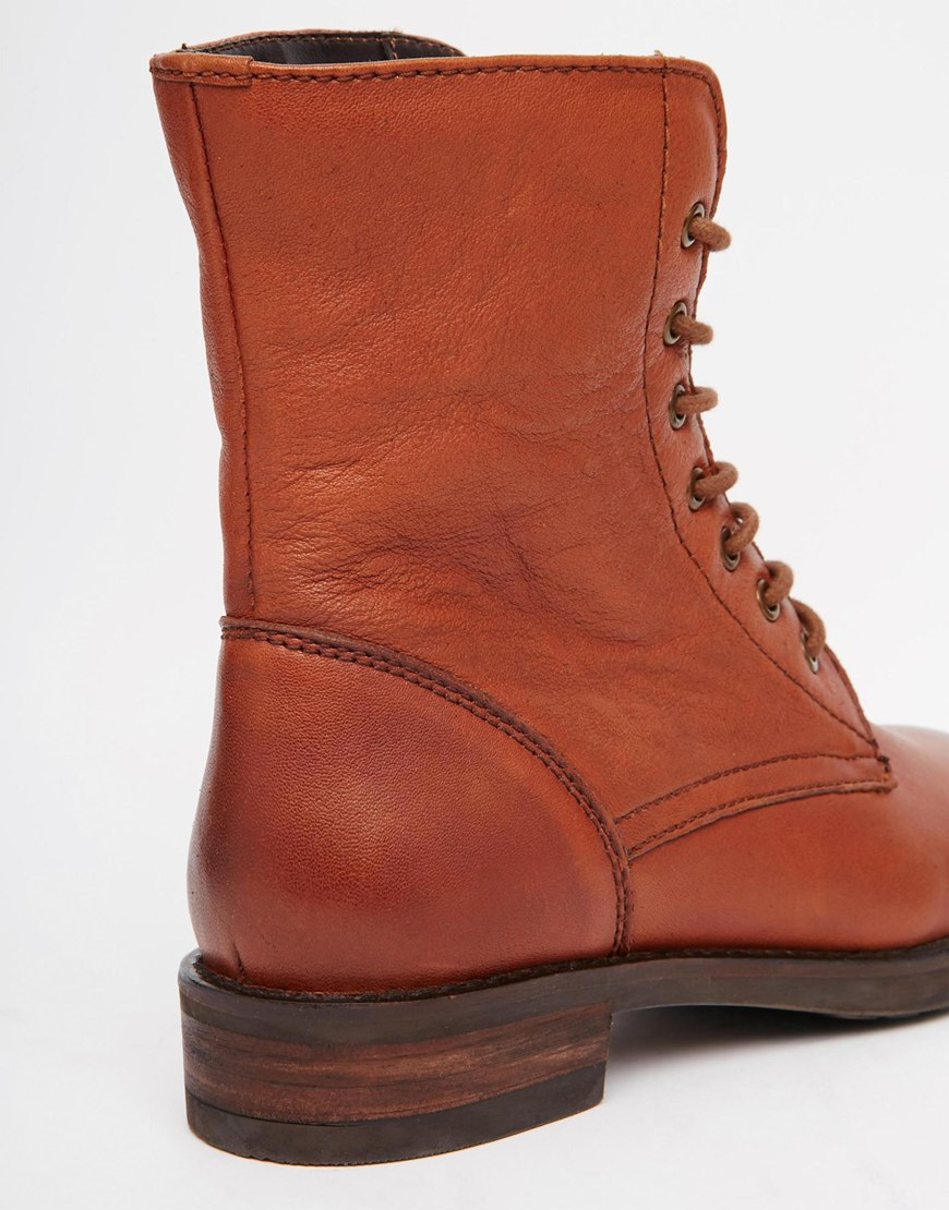 Brown Lace Up Ankle Boots 7zMGITwn