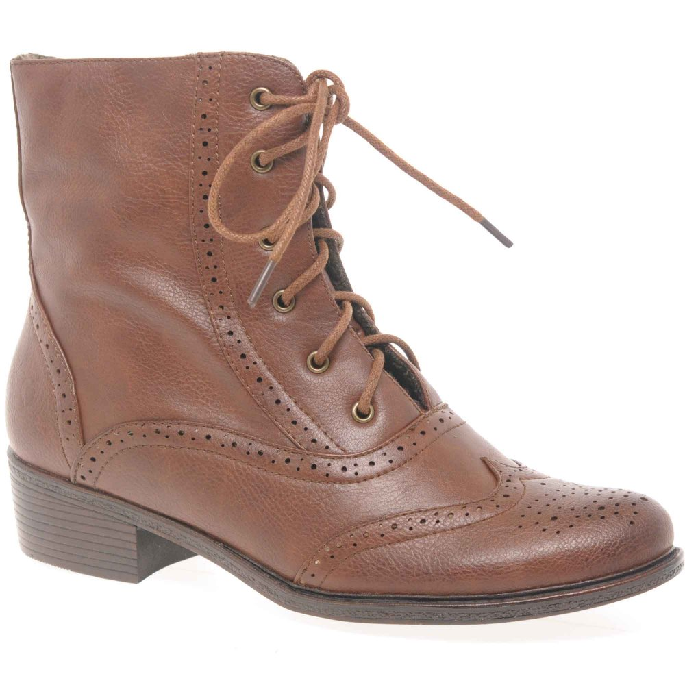Brown Lace Up Ankle Boots CNl53JUS