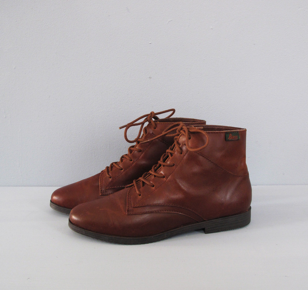 Brown Leather Ankle Boots gLJY2vZB