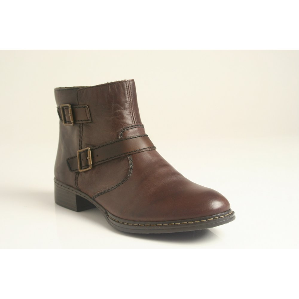 Brown Leather Ankle Boots wLDxlCUE