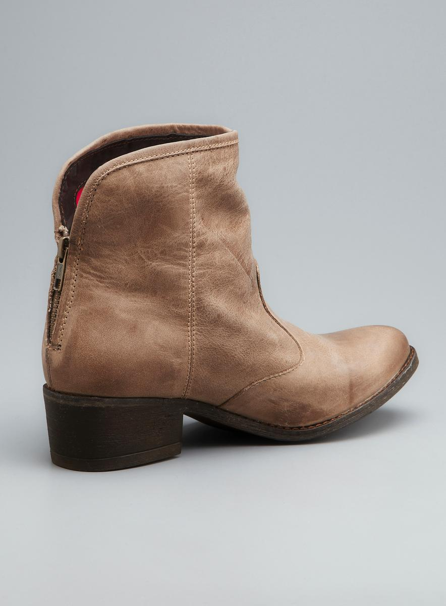 Brown Leather Ankle Boots nfgVQFS2
