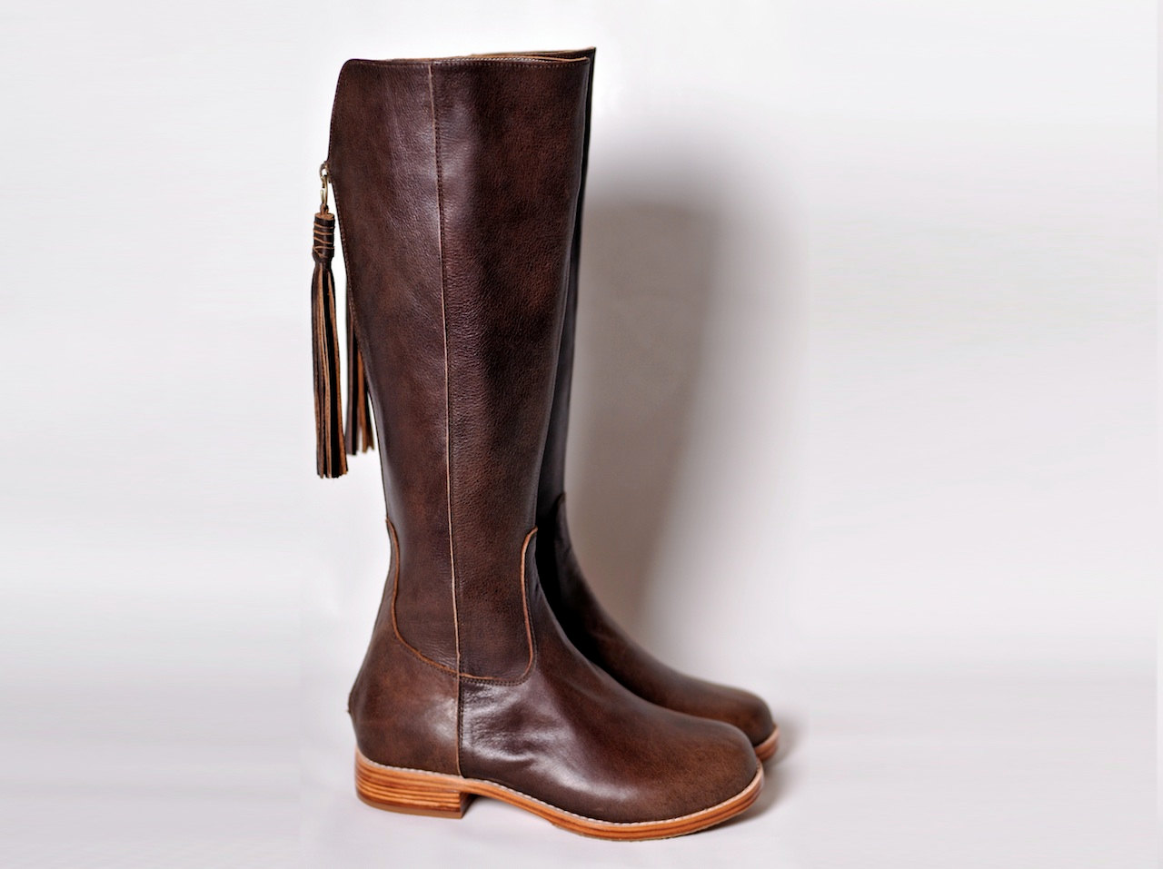 Brown Leather Boots For Women aB8TYcr6