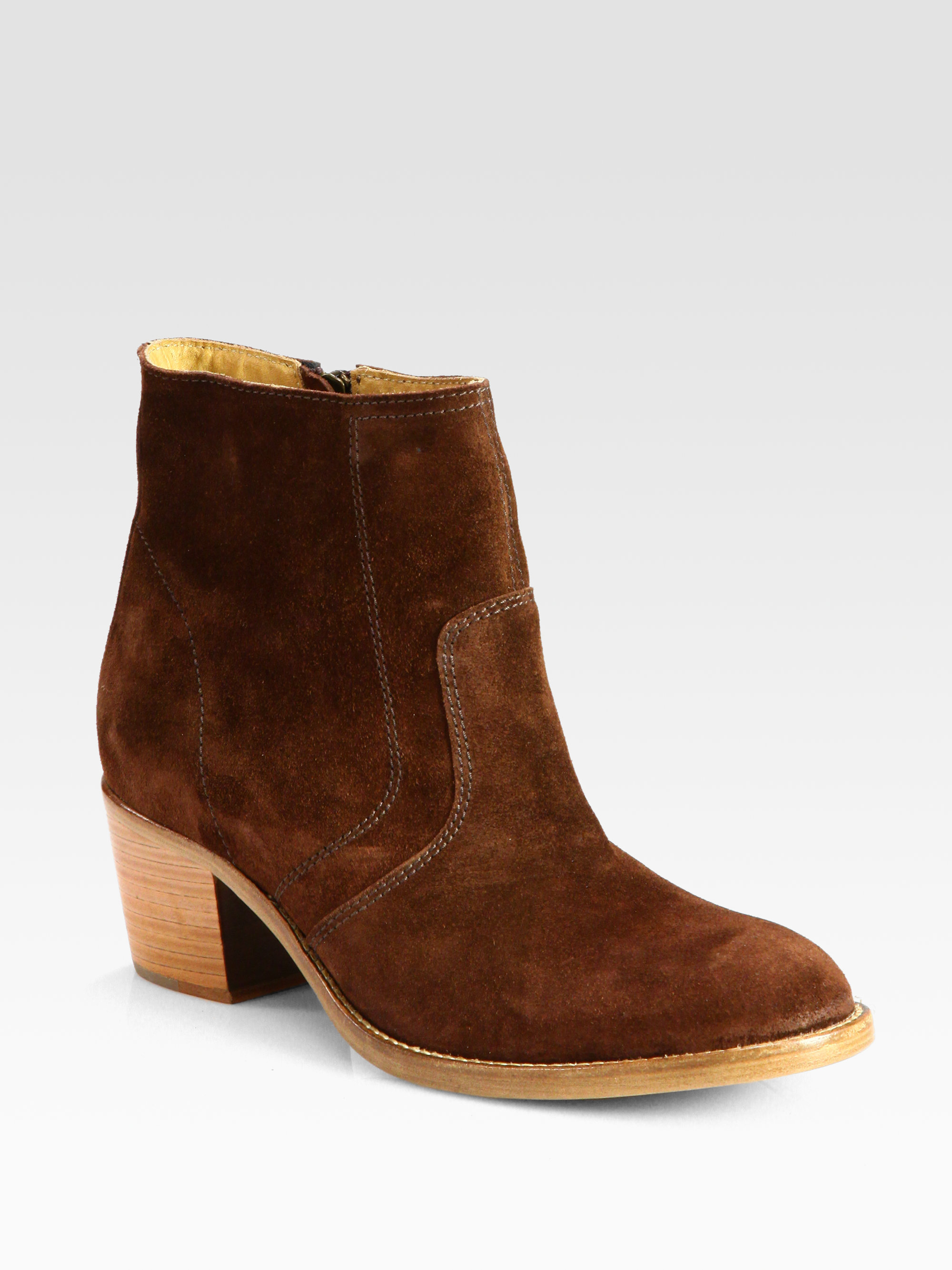 Brown Suede Ankle Boots 5eEK0T2j