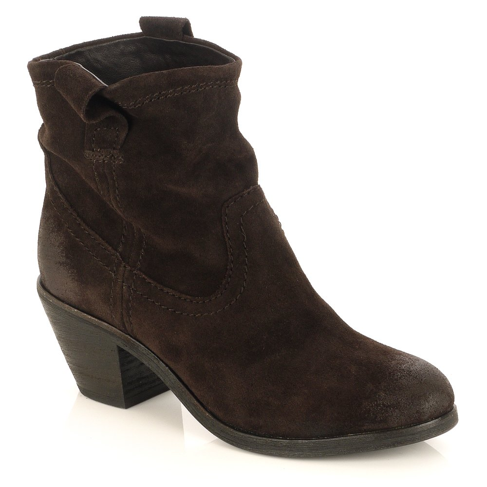 Brown Suede Ankle Boots Kcs1MGS7