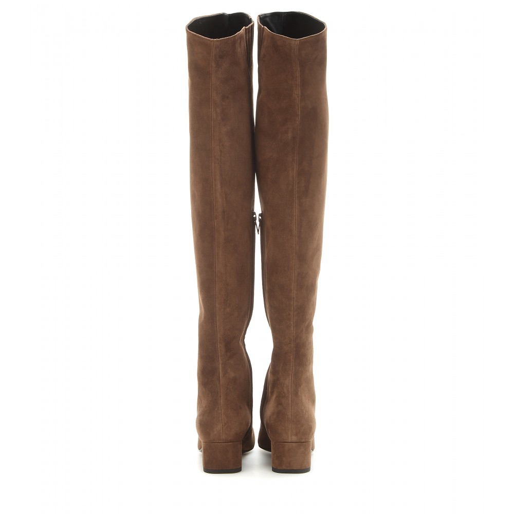 Brown Suede Over The Knee Boots 5YD1LpWf