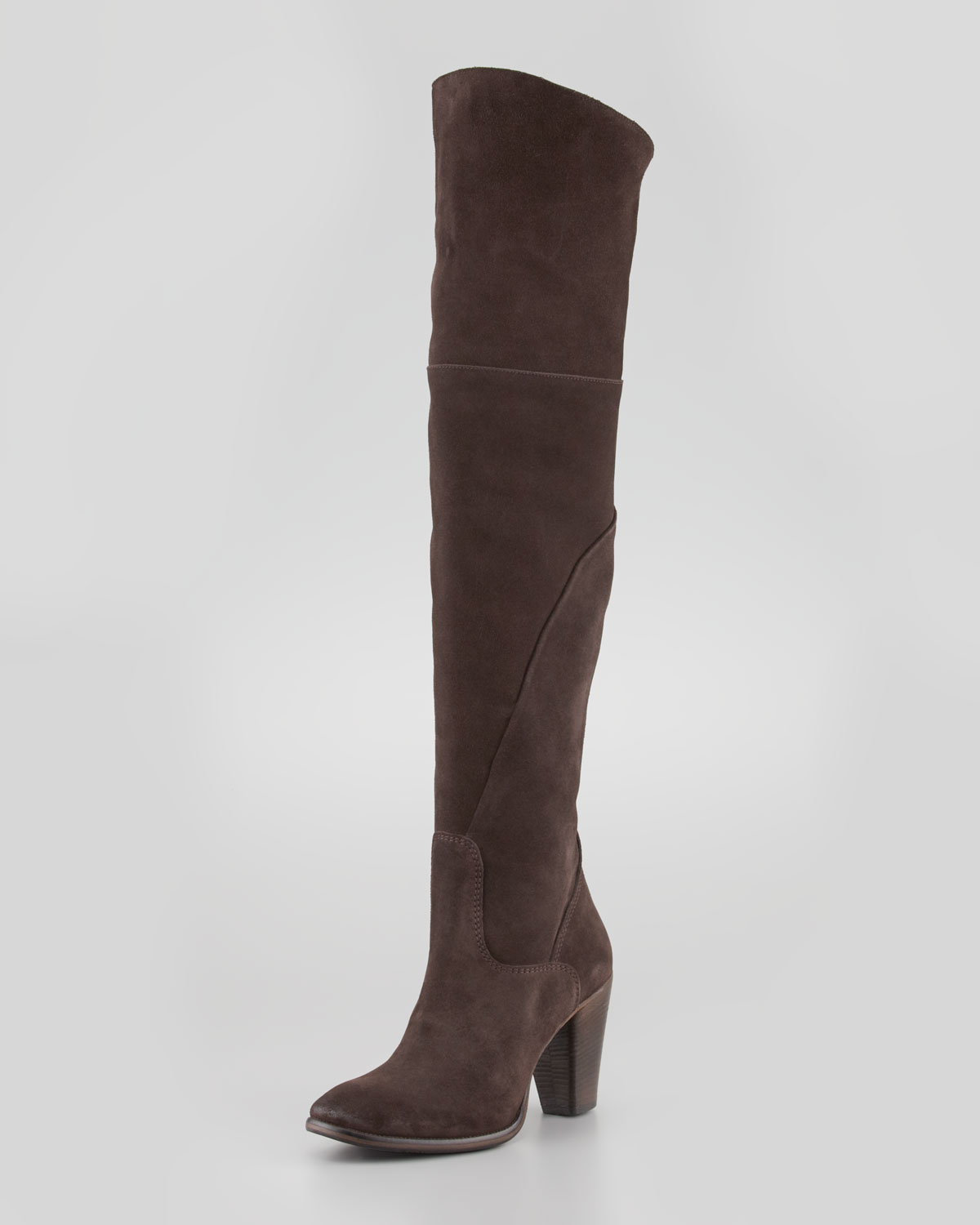 Brown Suede Over The Knee Boots ePqwqFsx