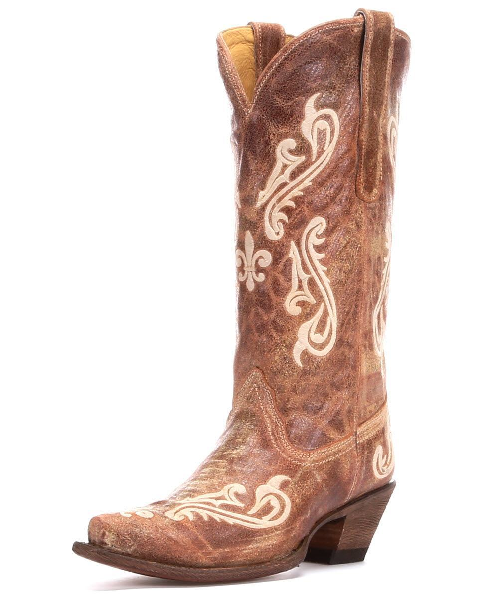 Brown Womens Cowboy Boots 3YNdLA12