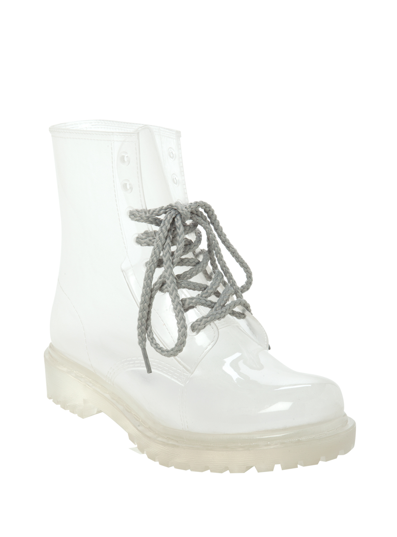 Clear Combat Boots UqwMlQdy