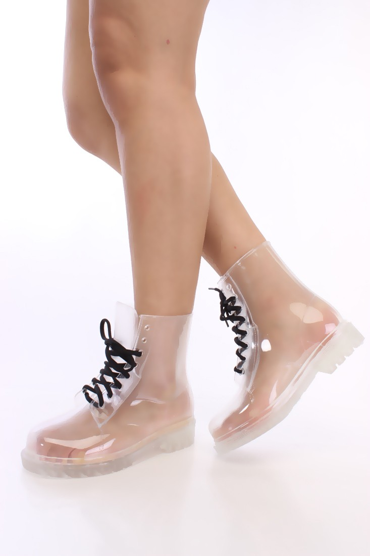 Clear Combat Boots ZKILWb0k
