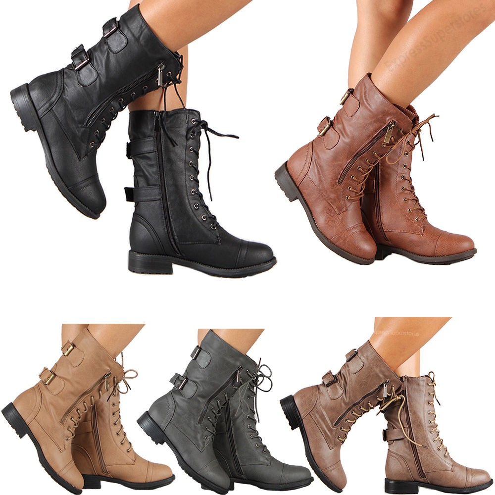 Fashion Combat Boots For Women S31h2Yx9