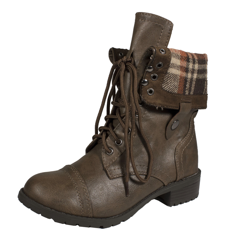 Fold Down Combat Boots cW9KxT3v