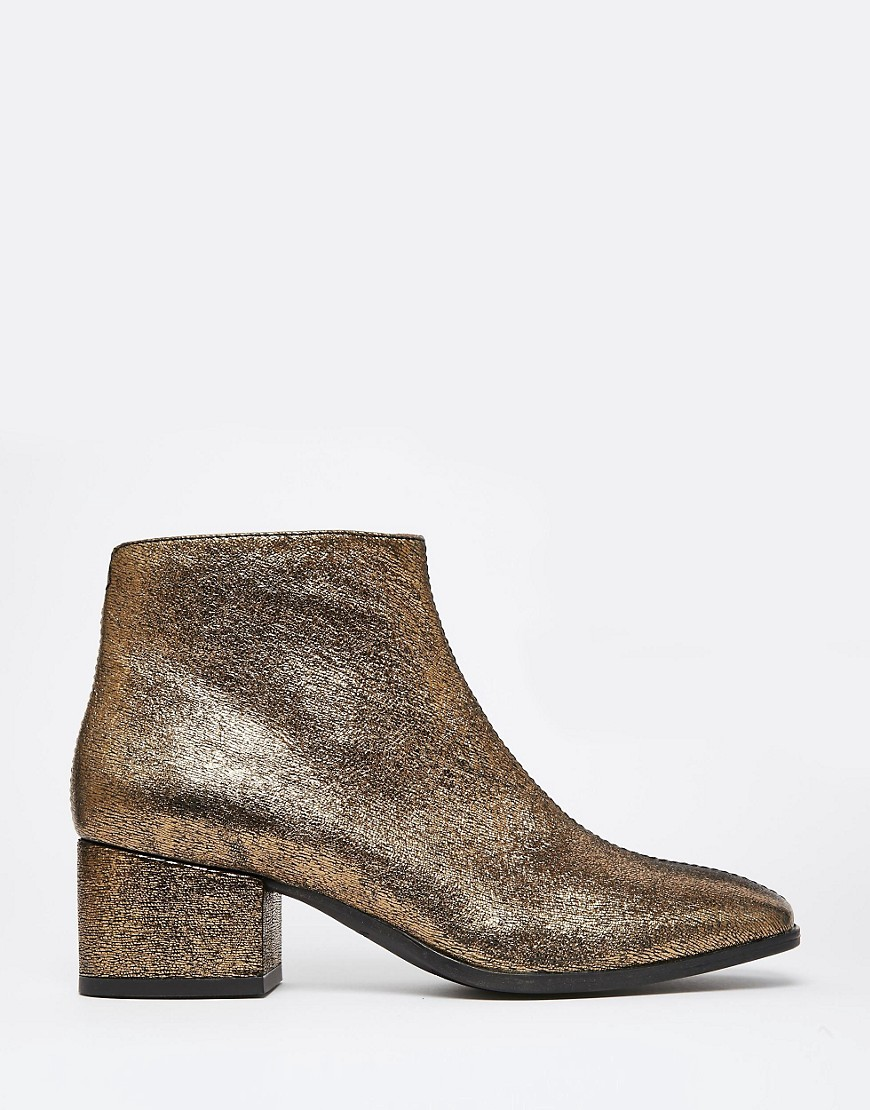 Gold Ankle Boots ycPPMCSl