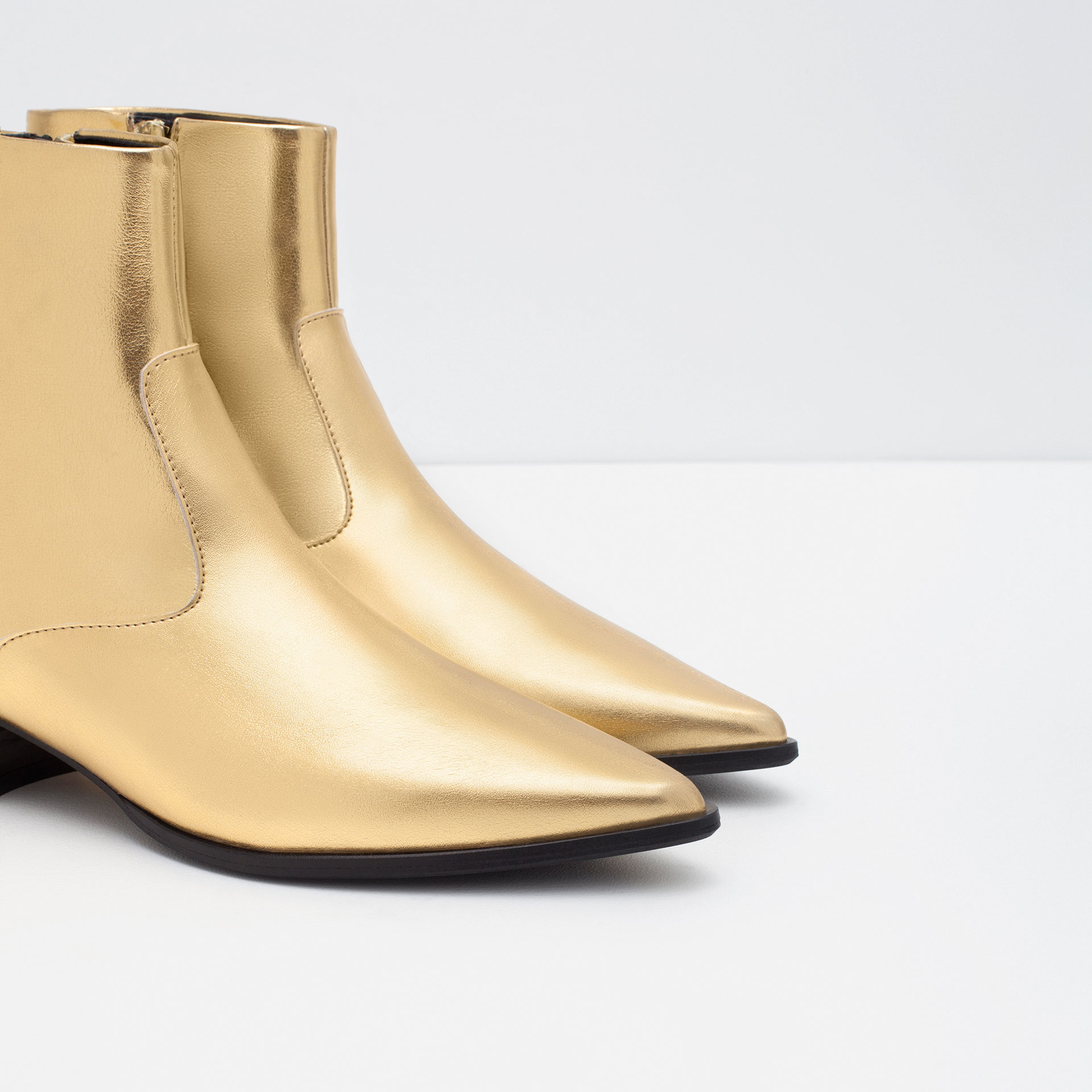 Gold Ankle Boots 5TUcGgEu
