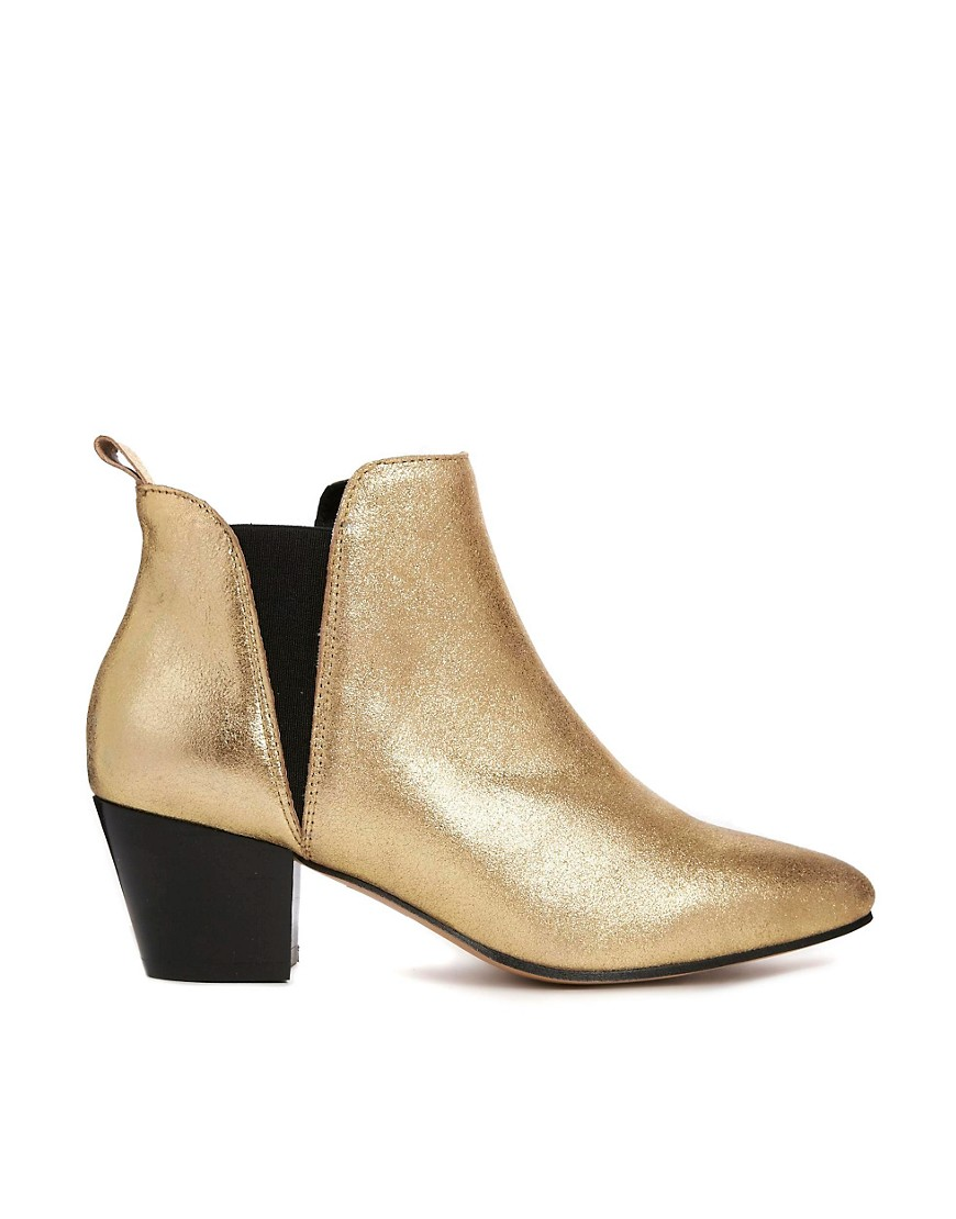 Gold Ankle Boots mfqUcyAD