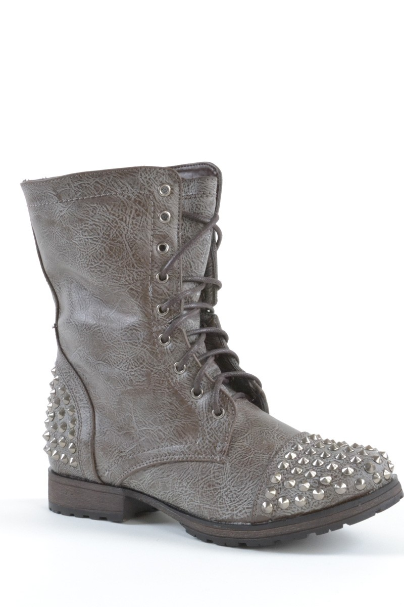 Gray Combat Boots 2g0isT8P