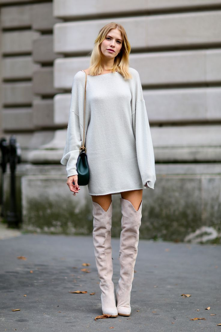 Gray Suede Over The Knee Boots D9U8DxCs