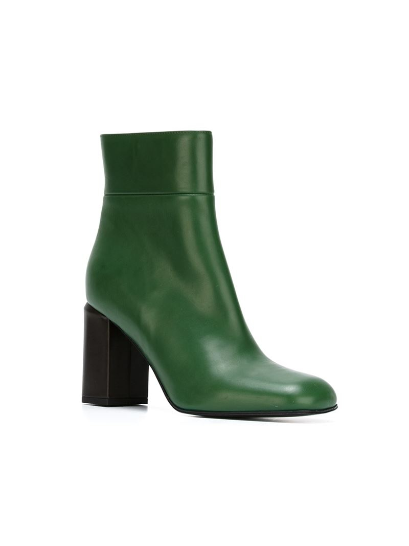 Green Ankle Boots yhlBluTN