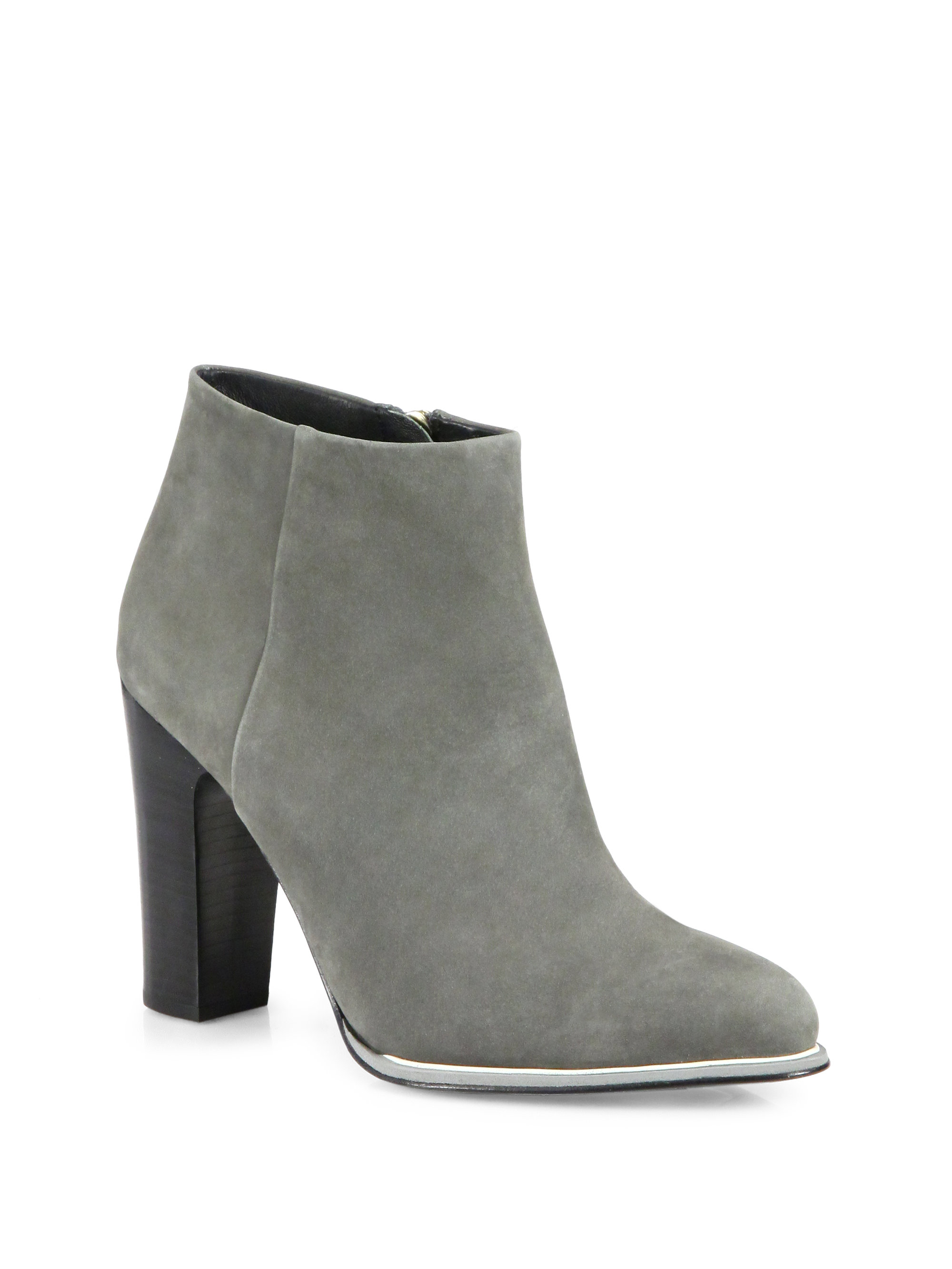 Grey Suede Ankle Boots gImapYIN
