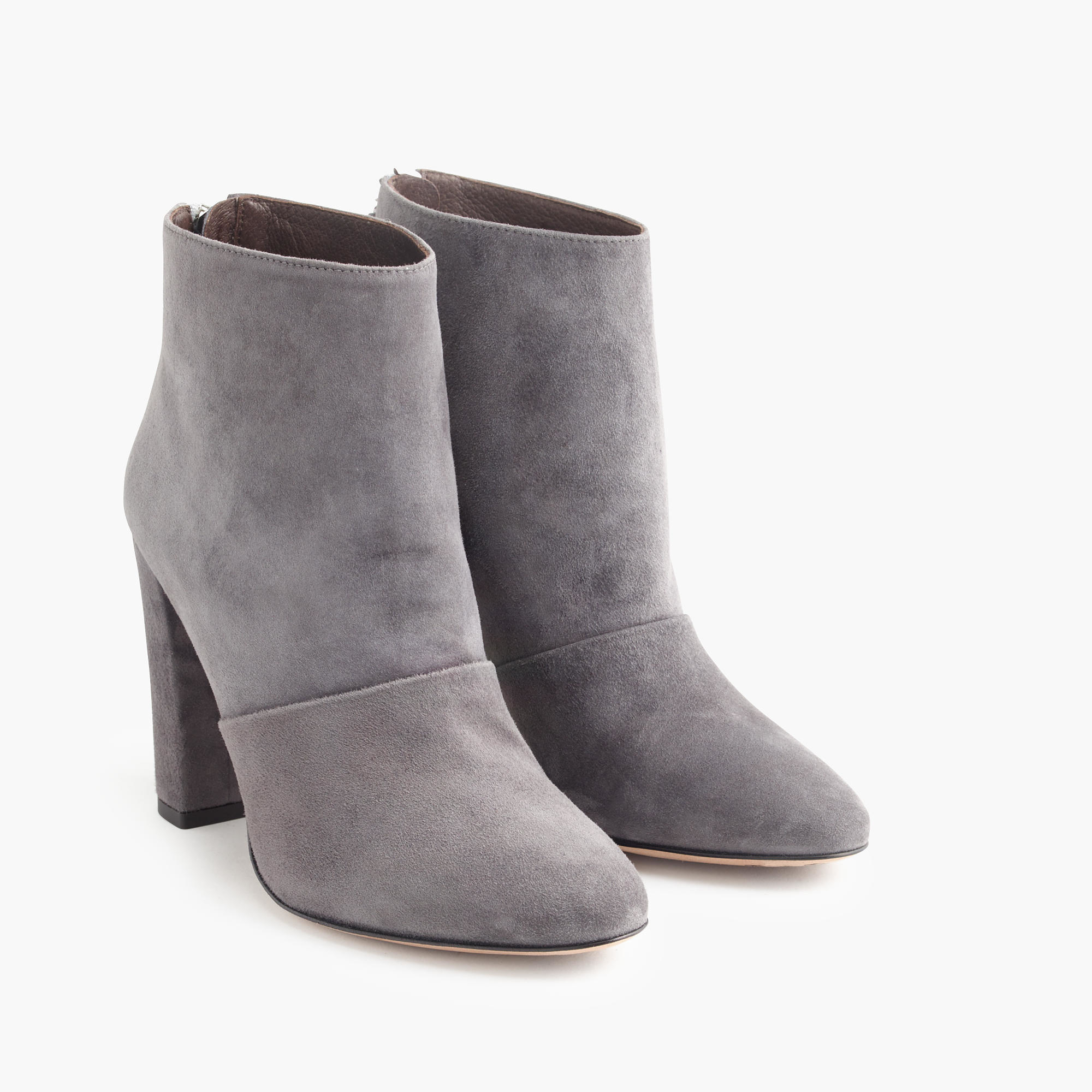 Grey Suede Ankle Boots YPH1gnsb