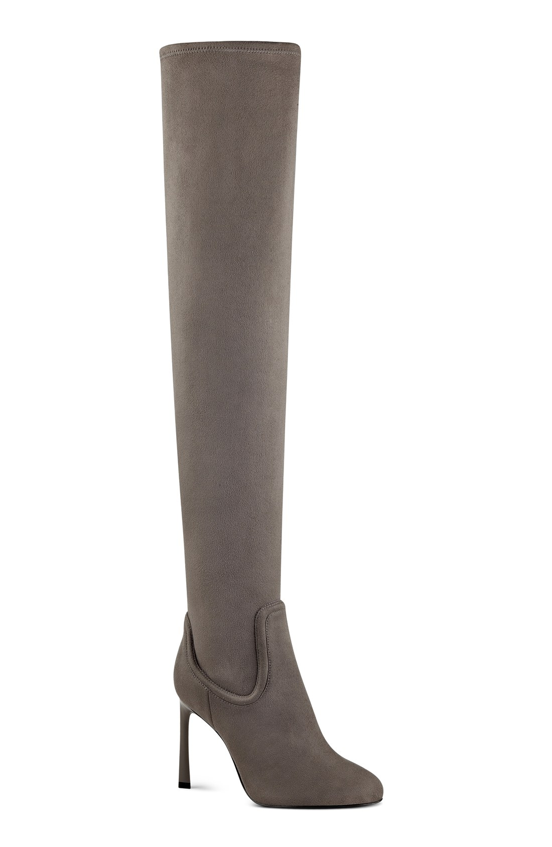 Grey Suede Thigh High Boots 8FCLr1C0