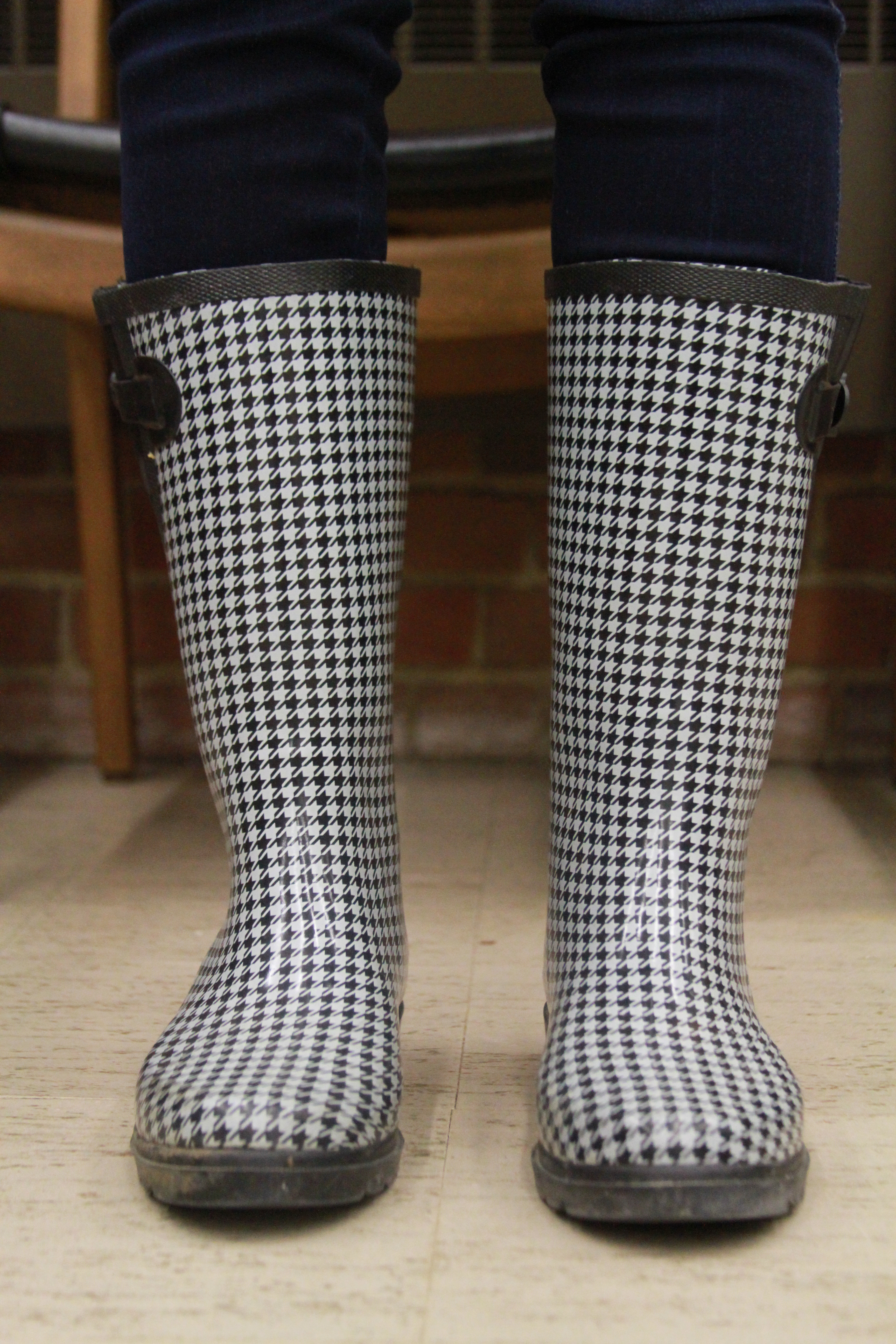 Houndstooth Rain Boots Wbx5anBO