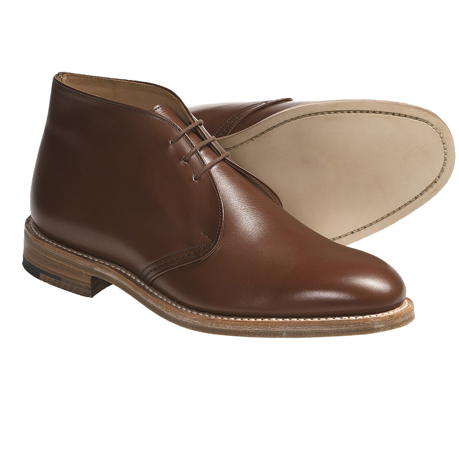 Leather Chukka Boots Men rRoha6nu